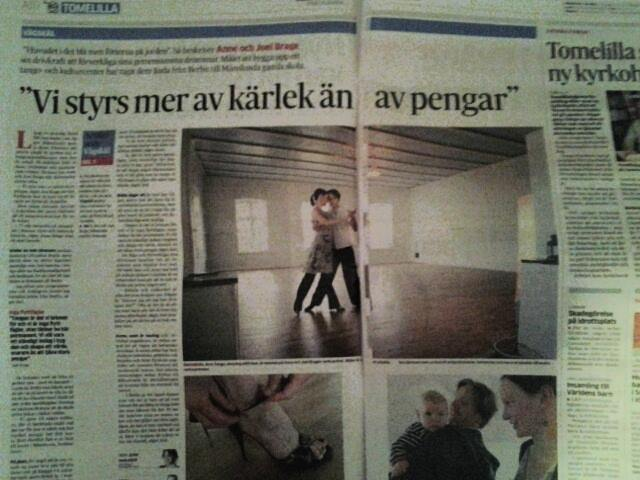 Månslunda Skola in the swedish newspaper